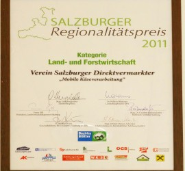Auszeichnung Mobile Käseherstellung