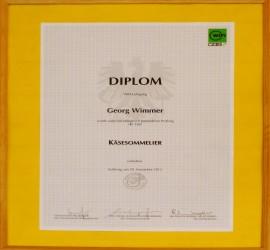 Diplom zum Käsesommelier