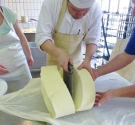 Käseherstellung für Direktvermarktung in der handKäserei Georg Wimmer